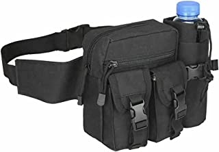Tactical Waist Bag Multi Purpose Utility Military Wallet Molle Belt Pouch Pack (Black)