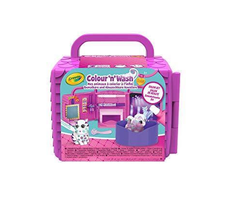 Crayola - Washimals - Mes Animaux à Colorier - Salon de Beauté - Loisir créatif - washimals - Color N wash - à partir de 3 ans - Jeu de coloriage et dessin