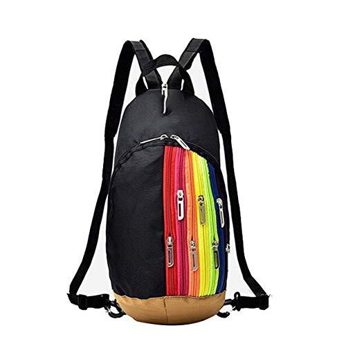 Yi-xir Diseño de moda exterior de montañismo bolsa de hombro nueva mujer bolsa de deporte exterior bolsa de deporte bolsa de arco iris mochila mochila infantil ligera y duradera (color: 04, tamaño: A)