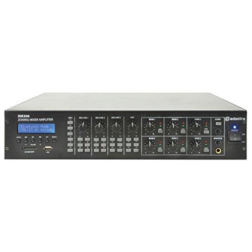 6-Zone Mixer Verstärker mit Integral USB/SD/FM Audio Spieler & Bluetooth (6x 30W Ausgangsleistung)