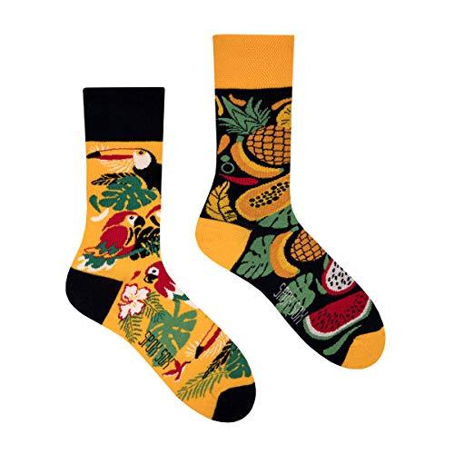 Spox Sox Casual Unisex - mehrfarbige, bunte Socken für Individualisten, Gr. 40-43, Tropisch