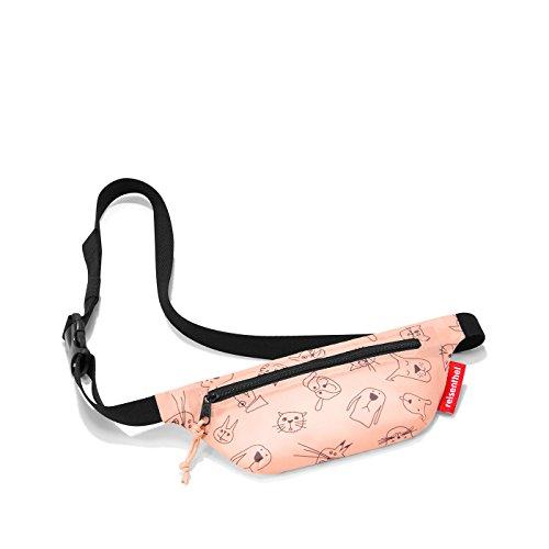 reisenthel Kids | Kinder | Gürteltasche | Hüfttasche | beltbag | Bauchtasche verstellbar (cat´s & Dog´s Rose)