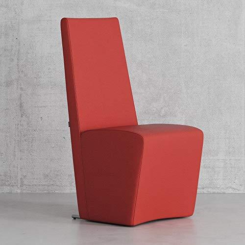 Zuri Boston High Back Modern Dining Chair, Red