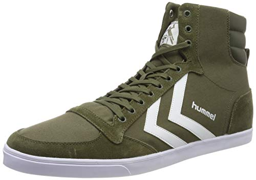 hummel Unisex-Erwachsene Slimmer Stadil HIGH Hohe Sneaker, Grün (Olive Night 6453), 42 EU