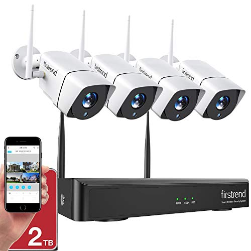 1080P Wireless Security Camera System, Firstrend...