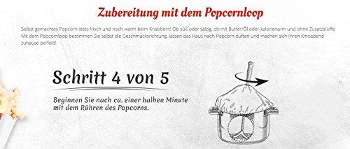 Popcornloop Heimkino-Set inkl. Rührstab, 1x Ersatzhaube, 1x Premium Popcorn Mais 500g - 7