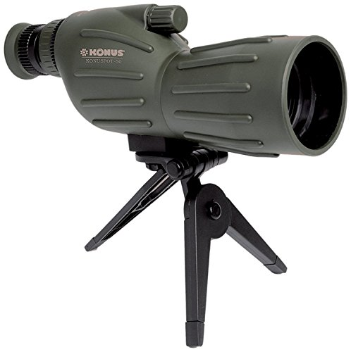 Konuspot 15X-45X50 Zoom Spotting Scope with Mini Tripod-Clam Package