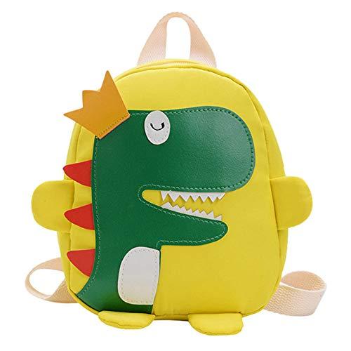 WLEYYY Rugzak mode voor kinderen dinosaurus kleur grote capaciteit schooltas leuk plezier eenvoudige ritssluiting L beige