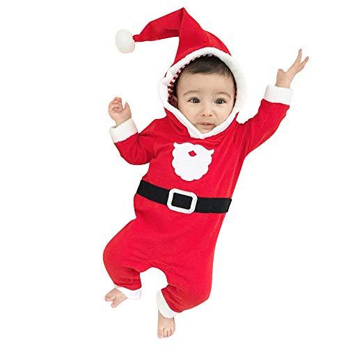 Mamum Bébé Garçons Filles De Noël Santa XMAS À Capuche Combi-pantalon Combinaisons (70(6Mois))
