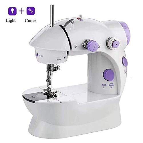 Sale!! Micro Sewing Machine Double Thread 2-Speed,with Lamp and Cutting Line Portable Electric Craft...