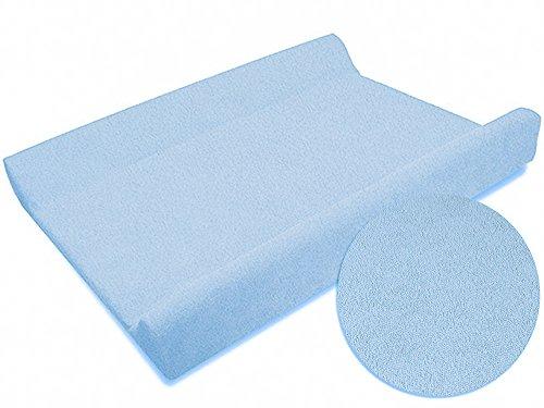 Sábana ajustable / funda para cambiador de bebé 70 x 50 cm con bordes elevados - azul