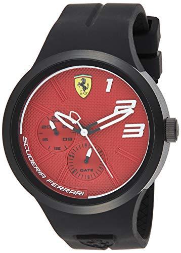 Ferrari Men's FXX Quartz Watch with Silicone Strap, Black, 21 (Model: 0830473)