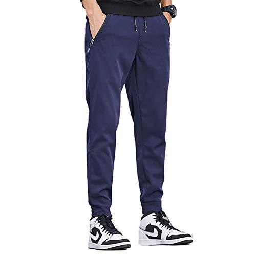 Trekking Hombre Pantalones de Montaña Invierno Pantalon Impermeable Cortaviento y Abrigado Pantalón da Senderismo y Trekking,Azul,XL