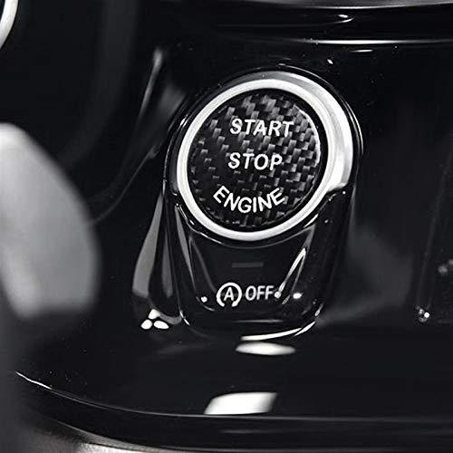 Motor De Coche Interruptor De Botón Reemplazar La Cubierta del Casquillo Etiqueta para BMW X5 Z4 E53 E70 E39 F10 F30 G30 E36 E46 E60 E87 E90 Accesorios For Automóviles Molduras (Color : 2.5cm Black)