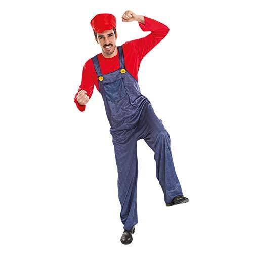 Chaks Costumes et Mariage Mario Klempner Herren Kostüm für Super Mario Fans - L