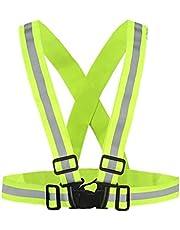 سترة عاكسة للضوء | خفيفة الوزن، قابلة للتعديل ومرنة | امنة وعالية الوضوح للجري والركض والمشي وركوب الدراجات | مناسبة للارتداء في الهواء الطلق