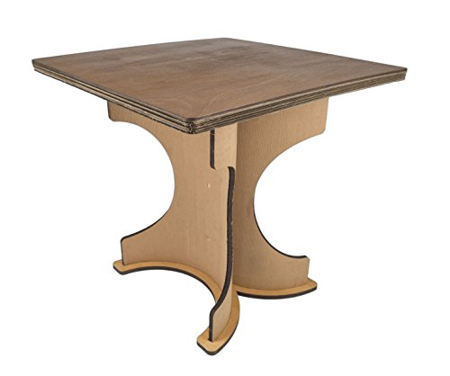 Table sekkei Sustainable Design en Carton, Mod. Rome, Finition en Bois de Bouleau Naturel satiné