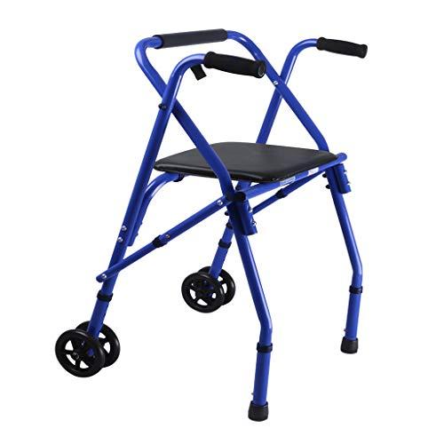 Bariatrischer Schwerlast Gehwagen Rollator mit Sitz und Rollen für Senioren, Erwachsene, Gehhilfe Walker für Senioren, Extra breiter Vorderradläufer, max. 220 lbs