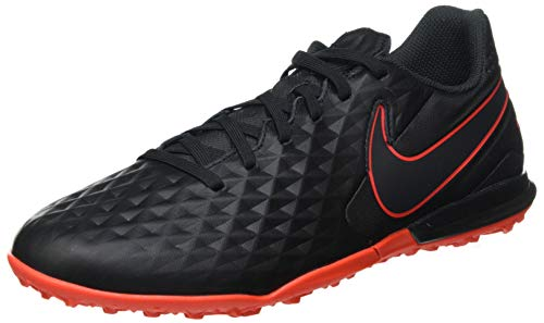 Nike Herren Legend 8 Academy TF Futsal-Schuh, Black/DK Smoke Grey-Chile RED,45 EU
