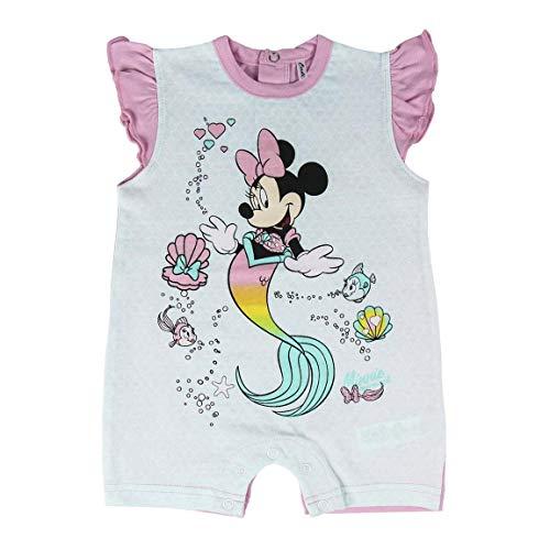 Cerdá Bebe Niña de Disney Minnie Mouse de Sirena-100% Algodon Pelele, Turquesa, 6 Meses para Bebés