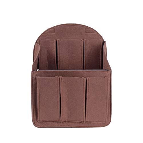Felt Backpack Organizer Insert, Round Top Purse Organizer, Backpack Purse And Travel Backpack For WomenMen Travel Backpack For Women Backpack, Coffee Small