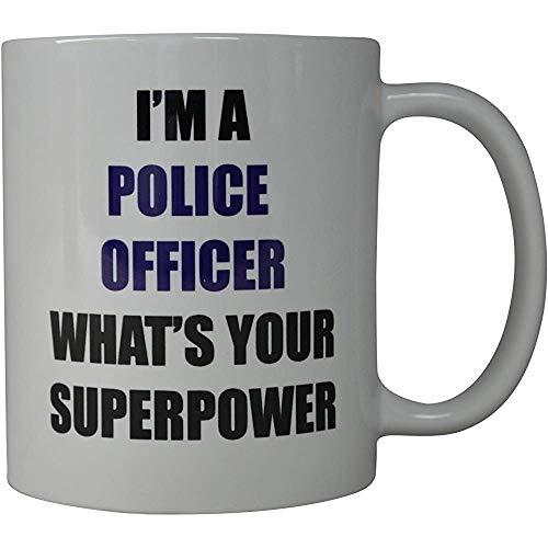 Koffiehaverl I 'M een politieagent, wat je supermacht-nieuwigheid schaal is een geweldig cadeau-idee voor politieagenten en -pD (supermacht)