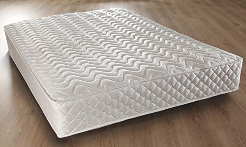 Comfy Living Memory Foam Quilted Pocket Sprung Mattress 2ft6 Small Single, 3ft Single, 4ft Small Double, 4ft6 Double, 5ft King (4ft Small Double)