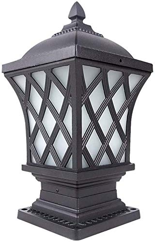 ZXDFV Waterproof Column Head Light Door Light Garden Villa Outdoor Light Wall Light E27 Decoration Illumination Energy Saving Patio Pillar Porch Street Lantern Headlight Post Light Floor Lamp