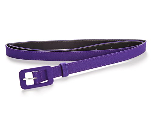 MUXXN Womens Belt- Solid Color Basic Belt for Casual Formal Dress or Jeans (Purple S)