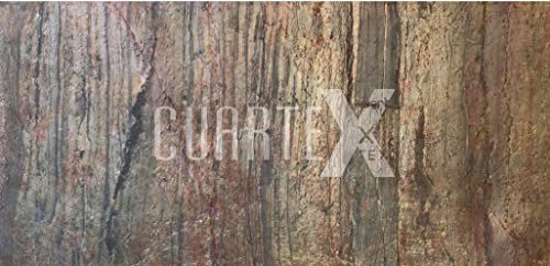 CUARTEX - Lastre/Pannelli di rivestimento in Pietra Naturale Sottile e Flessibile - Cherry Wood H...