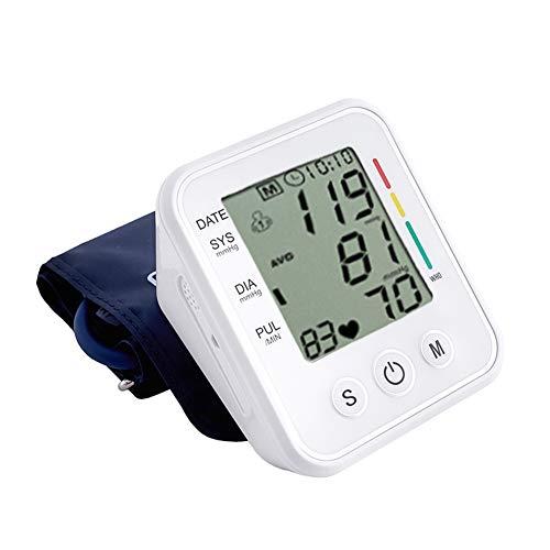 Bovenarm Bloeddrukmeter, Digitale Automatische Meet Bloeddruk En Hartslagmeter Voor Thuisgebruik, Voice Broadcast, One Key Measurement, Double 99 Groep Geheugen