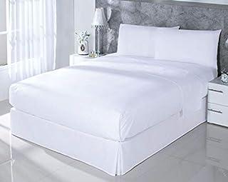 comprar comparacion DHestia Juego Sábanas, Algodón, Blanco, 150 x 190/200 cm