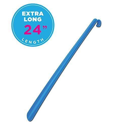 """NOVA Medical Products NOVA Extra Long 24"""" Shoe Horn, Flexible Plastic, Blue Color"""
