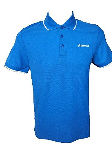 L73 Poloshirt für Herren, Motiv Lotto BS Plus, aus Baumwolle, Farbe und Größe wählbar Large