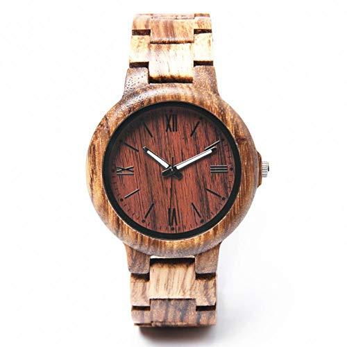 WRENDYY Holzuhren Herren Holzuhr Relogio Masculino Reloj de hombSportmode Uhr Herren Fein GIFS