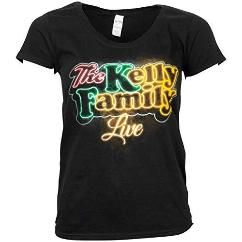 The Kelly Family Neon Logo Ladies T-Shirt schwarz (XL)