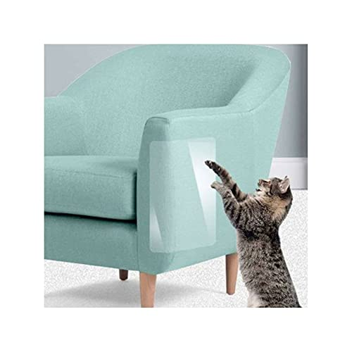 Unmbo Anti-Kratz Katzen-Notizblock Transparent, Flexibel Langlebig Kratzschutz Sofa Mit Pins Selbstklebend Katze Klebeband Für Sofa Mauer Durch Möbel Protector-2 Stck 20 * 45cm