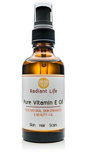 Aceite de belleza de vitamina E, natural de Radiant Life.