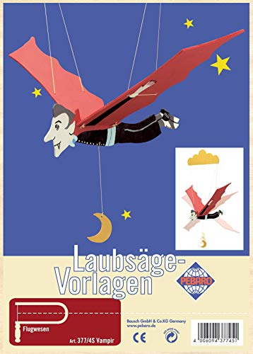 Pebaro Laubsägevorlage aus Sperrholz Motiv Vampir, Holz, DIN A4