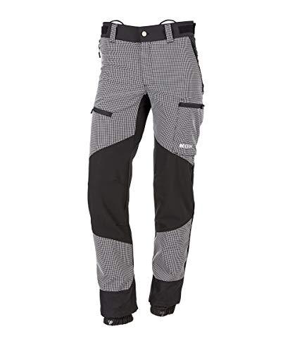 KOX Strong Outdoorhose, Schwarz/Grau, Größe 26 untersetzt