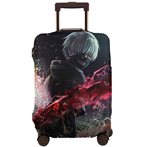 Anime Tokyo Ghoul Luggage Cover, Baggage Protective, Travel Elastic Suitcase Protecter Personalized Invisible Zipper Travel Suitcase Protector 4 Sizes £¨18-32 Inch£M