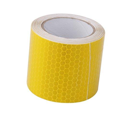 Koedu 3m Aufkleber Reflektierende Tape Sicherheit Auto Warnung Truck (yellow)