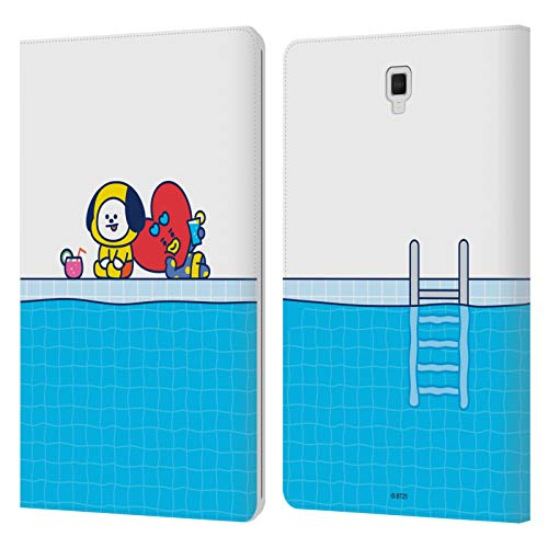 Official BT21 Line Friends Chimmy, Tata Bon Voyage Summer Vacation Leather Book Wallet Case Cover Compatible For Galaxy Tab S4 10.5 (2018)