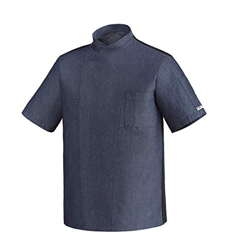 Egochef - Chaqueta Chef - Hombre Azul Blu jeans XL