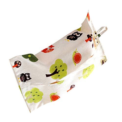 Vokmon Hängende Blumen Pflanze Tierdruck-Box Papier Baumwolle Leinen-Speicher-Halter-Beutel-Home Decor