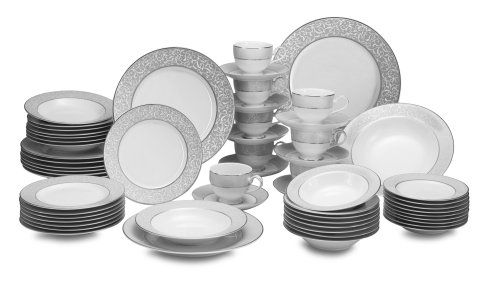 Big Sale Best Cheap Deals Mikasa Parchment 58-Piece Dinnerware Set, Service for 8