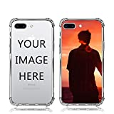 Custom iPhone 7P/8P Case Soft TPU Bumper Crystal Clear Shock Absorbing Cover Personalized Photo Phone case for iPhone 7 Plus & 8 Plus- Design Your Own iPhone Case