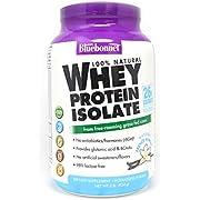 Bluebonnet Nutrition Whey Protein Isolate Powder, Vanilla Flavor, 2 Pound
