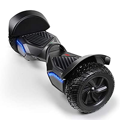 SISIGAD Off Road Hover Board, 8.5 Inch Hoverboard, Two-Wheel Self Balancing Hoverboard Electric Scooter All Terrain Hoverboard for Adult Kids Gift - Black