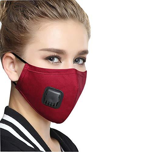 Rxrenxia Maschera Multifunzionale Anti-Polvere, Anti Inquinamento Maschera con 5 Filtri Aggiuntivi Carbonio, per Il Ciclismo, Sci, Cappello Duro Caschi